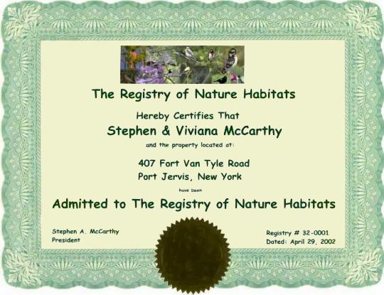 Registry of Nature Habitats
