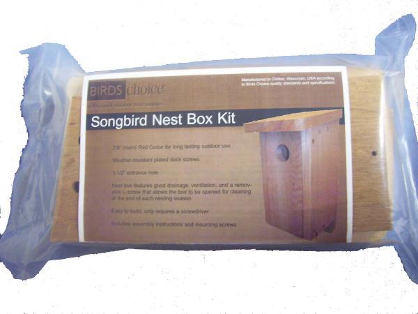 Bird's Choice Songbird Nest Box Kit