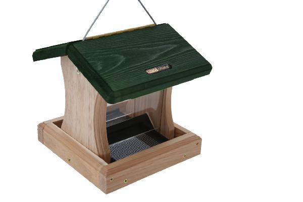 Bird's Choice 1-1/2 Quart Cedar 2-Sided Hopper w/Hanging Cable