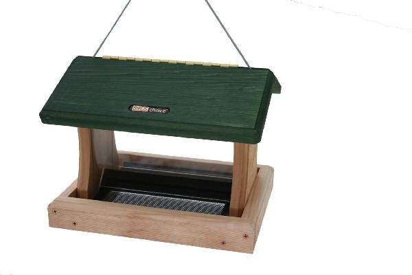 Bird's Choice 3 Quart Cedar 2-Sided Hopper w/Hanging Cable