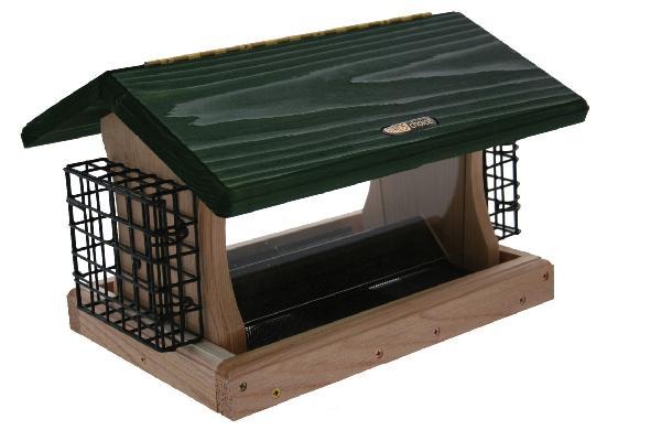 Bird's Choice 5 Quart Cedar 2-Sided Hopper w/Suet Cages