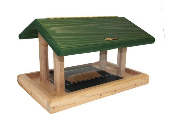 Bird's Choice 6 Quart Cedar 4-Sided Hopper