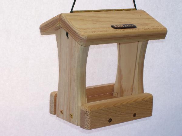 Bird's Choice 3 Cup Cedar 2-Sided Hopper w/Hanging Cord