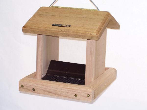 Bird's 2-1/2 Quart Cedar 2-Sided Hopper w/Hanging Cable
