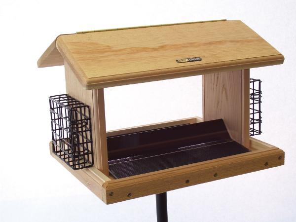 Bird's Choice 11 Quart Cedar 2-Sided Feeder w/Suet Cages