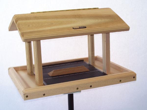 Bird's Choice 11 Quart Cedar 4-Sided Hopper