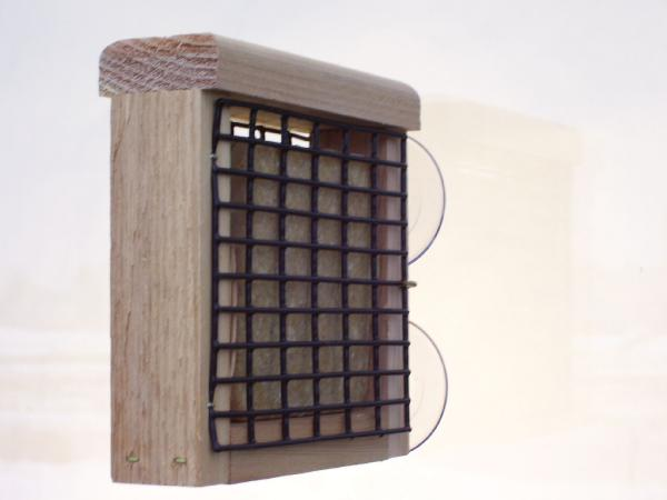 Bird's Choice Window-Mount Suet Feeder