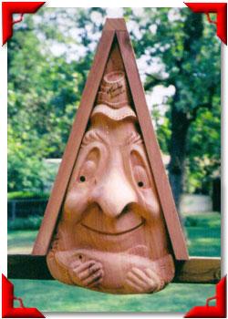 Gnome Birdhouse Fisherman