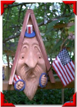 Gnome Birdhouse Uncle Sam