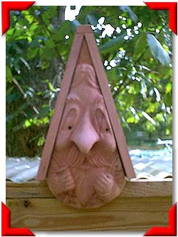 Gnome Birdhouse Wine Taster