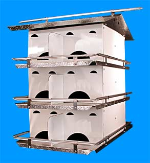 Coates Starling Resistant 12 Room Purple Martin House