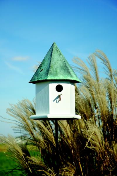 Heartwood Deluxe Copper Songbird Birdhouse