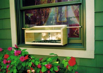 Coveside Conservation Mirrored Windowsill Feeder Natural