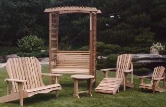 Classic PATIO FURNITURE And OUTDOOR FURNITURE Featuring CLEAR CEDAR Adirondack  Chairs, Adirondack Garden Furniture,